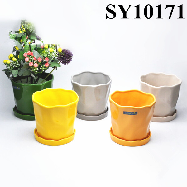 Colorful simple design small clay pots wholesale colorful for Small clay pots