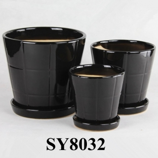 Unique products from China black bright garden flower pot