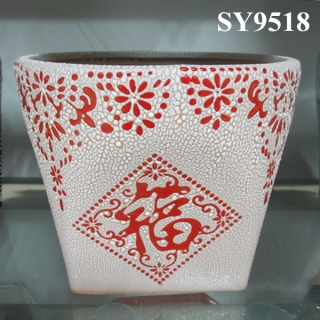 Chinese style indoor flower pot wholesale