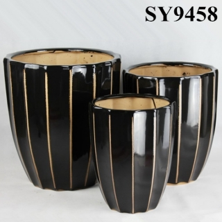 Classical black planter pot wholesale