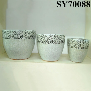Elegant ceramic indoor decorative pot