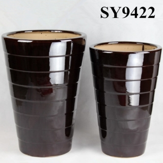 Ceramic black decoration wholesale pot