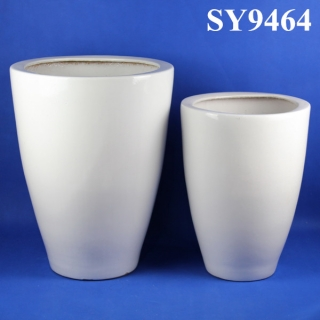 Hot new products for white plain glazed decoration flowerpots