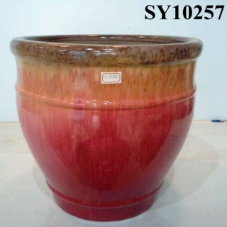 Gradient color glaze ceramic flower pot