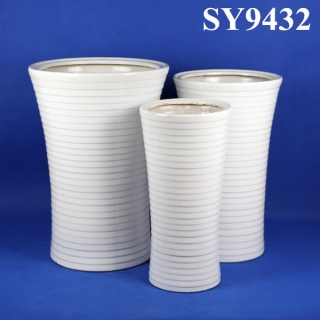 Hot new products for 2015 white glazed flower pot wholesale