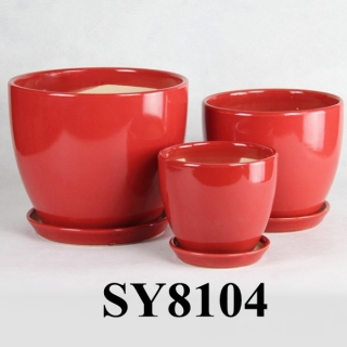 Unique products to sell red glazed flower pot