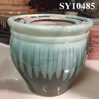 Color glazed ceramic decorative planters wholesale