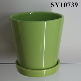 Unique design for pot customized color porcelain glazed pot