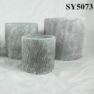 Cement pot for sale indian cylinder cheap flower pot