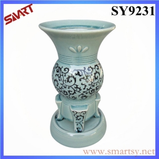 Glazed and printing green planter pot wholesale