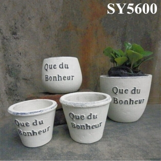 Clay decoration pot garden cement pot