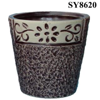 morden plant pot design cobble stone european flower pot indoor flower pot stands home decor