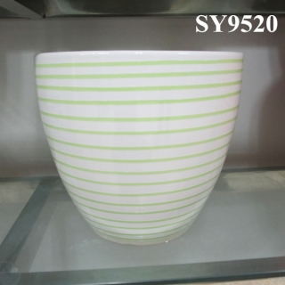 Candy color printing indoor planter pot wholesale