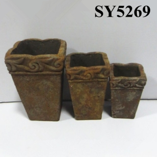 Rust clay flower pots wholesale