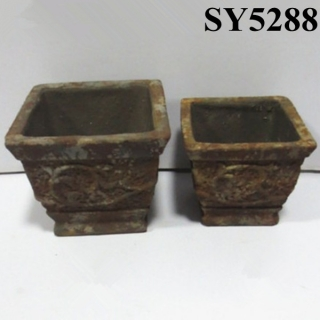 Popular product cement square flower pot