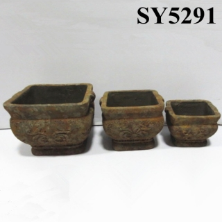 Double side handle antique garden pot