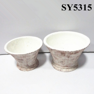 Horn shape small clay pots wholesale