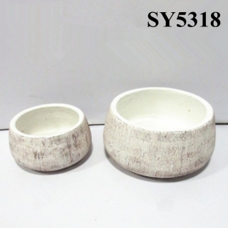 2015 new fashionable product small concrete garden flower pot