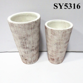 Hotsale new product tall clay cylinder pot