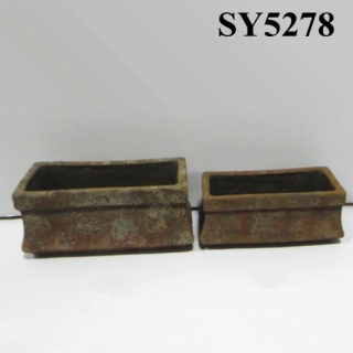 Rectangular glazed clay pots garden flowerpot