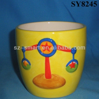 High quality hand painting cartoon flower pot