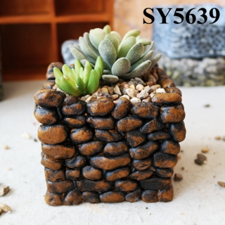 New design pot for indoor decoration cement natural flower pot