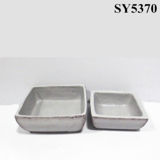 Cement rectangular decoration flower pot