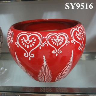 2015 new year red flower pot wholesale