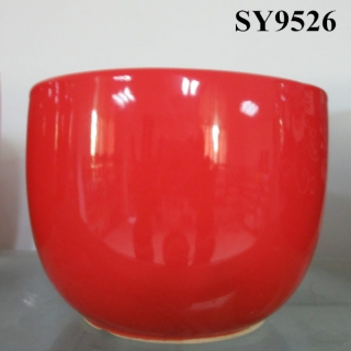 2015 new year red glazed decoration flower pot