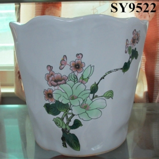 New style product wintersweet printing indoor decoration pot