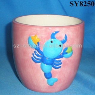 3D scorpion cartoon mini planter pots