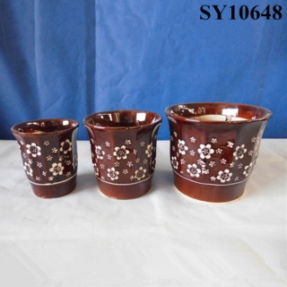 good quanlity flower painting bronzing planter