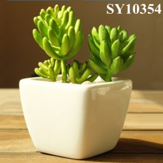 Ceramic mini square succulent pot