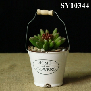With hanger Zakka garden style decorative pot