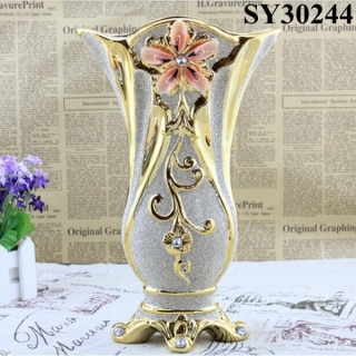 New design glass galvanized flower vase