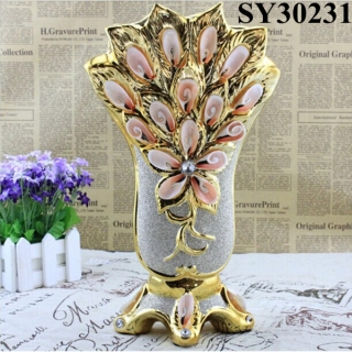 2015 new design galvanized ceramic vase