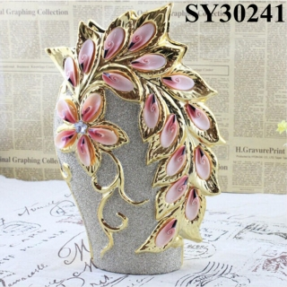 2015 new home decorative flower ceramic vase