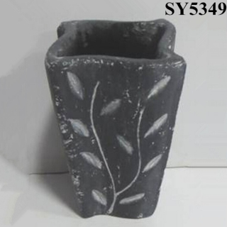 Square cement decoration flower pot