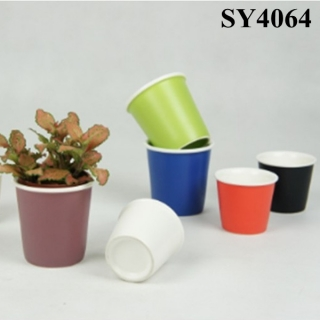 3 inches colorful small glazed pots