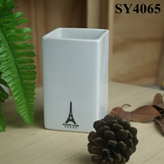 4.5 inches small white flower pot
