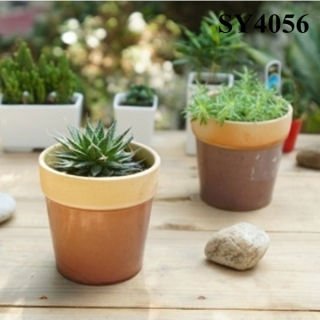 5 inches plastic flower mini indoor porcelain pots