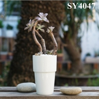 Hot selling 4.5 inches white ceramic mini flower pot