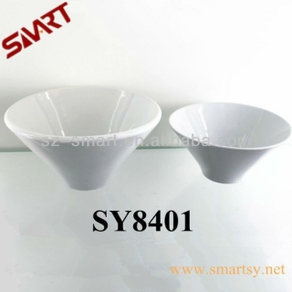 Ceramic white bowl planter pot