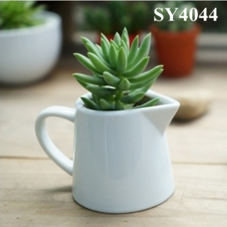 4.5 inches mini white ceramic flower pot