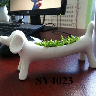 Wealth dog animal grass toy decoration