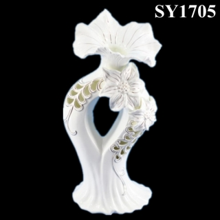 Hollow out liquid gold decorative flower arrangement