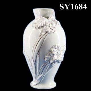 "10"" decorative liquid gold carving table vase"