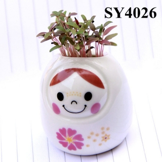 Spint of love growing toy grass head doll