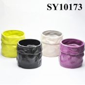 Colorful glazed mini flower pot ceramic