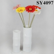 White cylindrical ceramic flower vases wholesale